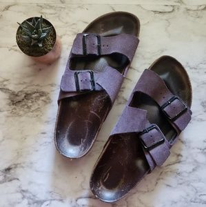 Birkenstock Purple 2 strap sandals L8M6 Wide